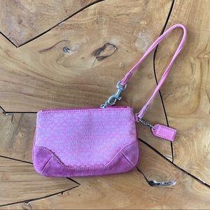 COACH Pink Clutch Purse Bag